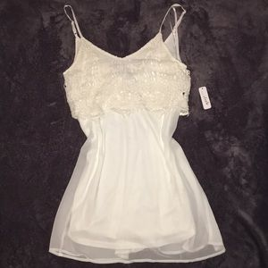 NWT Charming Charlie v neck (front and back) dress